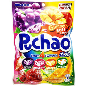 UHA Puchao 4 Fruit Flavors Gummy Soft Candy 100g