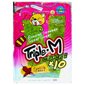 Triple M Giant Sheet Spicy Roasted Seaweed (Bag)
