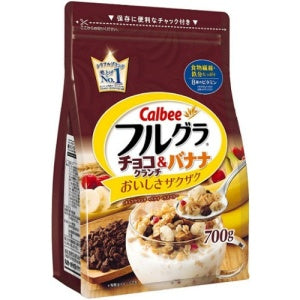 Calbee Fruit Granola Chocolate Crunch and Banana Full GAR 700g