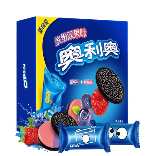 Oreo Blueburry & Raspberry Sandwich Cookie 8 Packs 388g