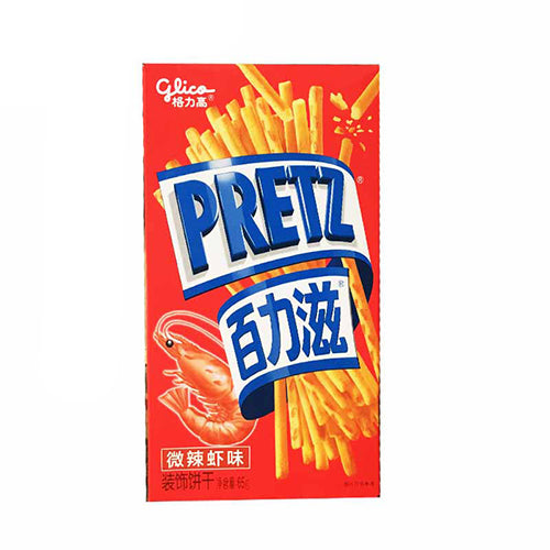 Glico Pretz Biscuits (Spicy Shrimp Flavor) 65g