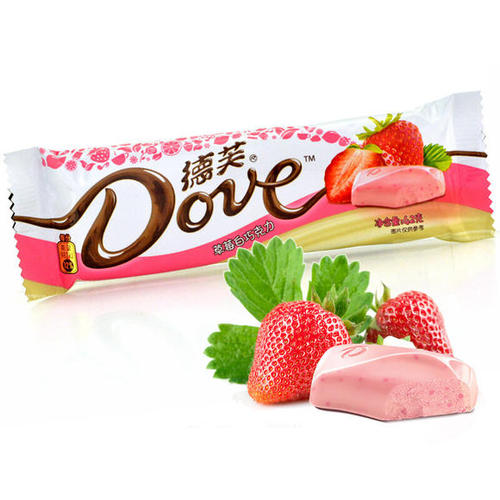 DOVE  White Chocolate (Strawberry Flavor) 42g