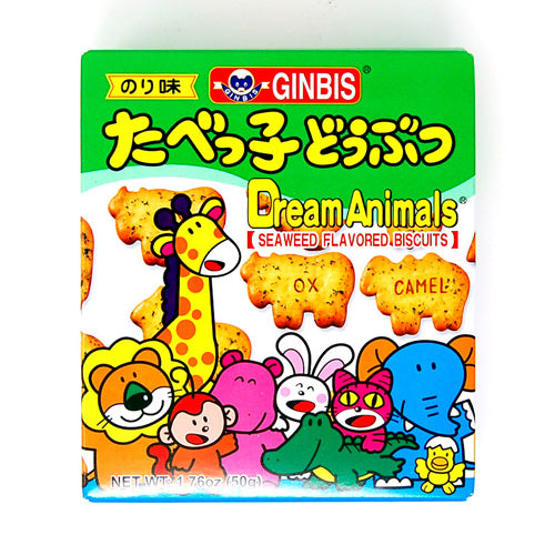 GINBIS Dream Animals Biscuits (Seaweed Flavor) 50g