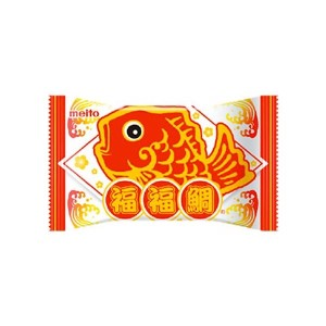 Meito Lucky Fish Shape Chocolate Filled Wafer