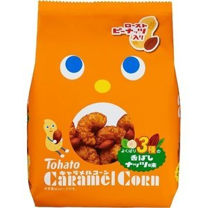 Tohato Caramel Corn 3 Assorted Nuts 77g