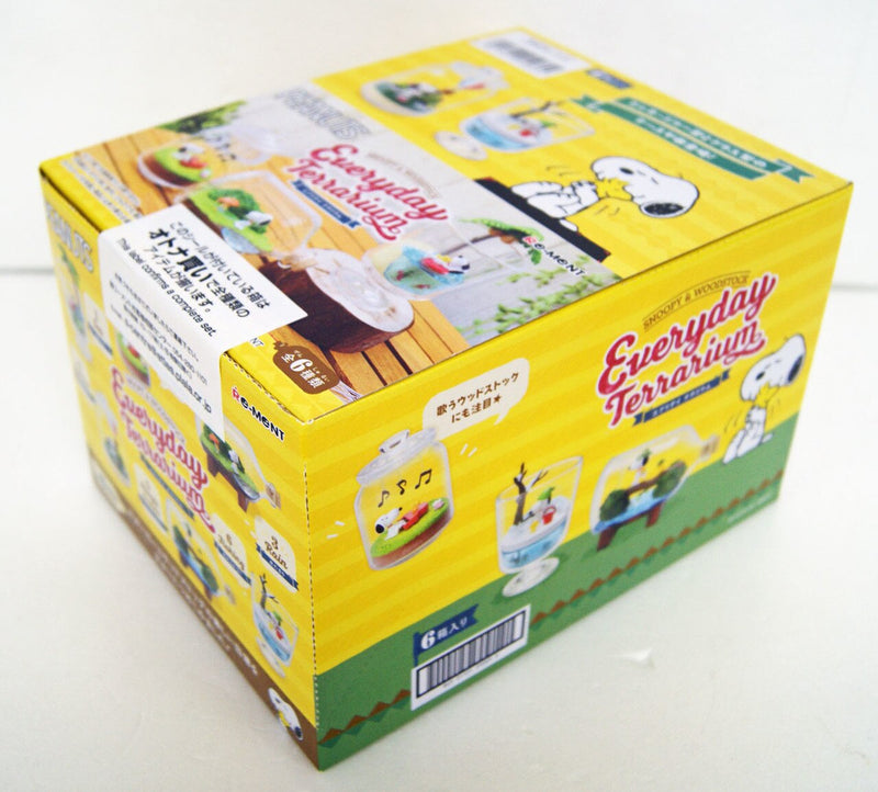Re-ment Pokemon  Candy Toy Snoopy & Woodstock Everyday Terrarium Collection (6 kinds in a set)