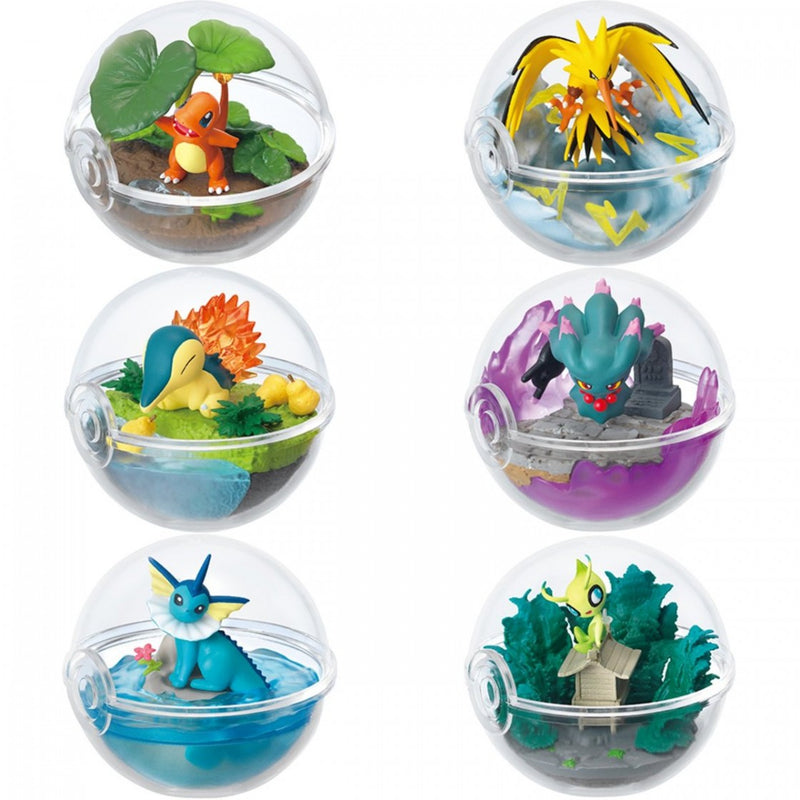 Re-ment Pokemon Candy Toy Terrarium 3 Collection (6 kinds in a set)