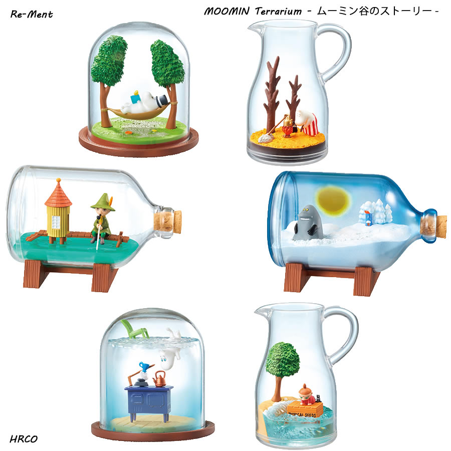 RE-MENT Moomin Terrarium Collection (6 Kinds in a set)