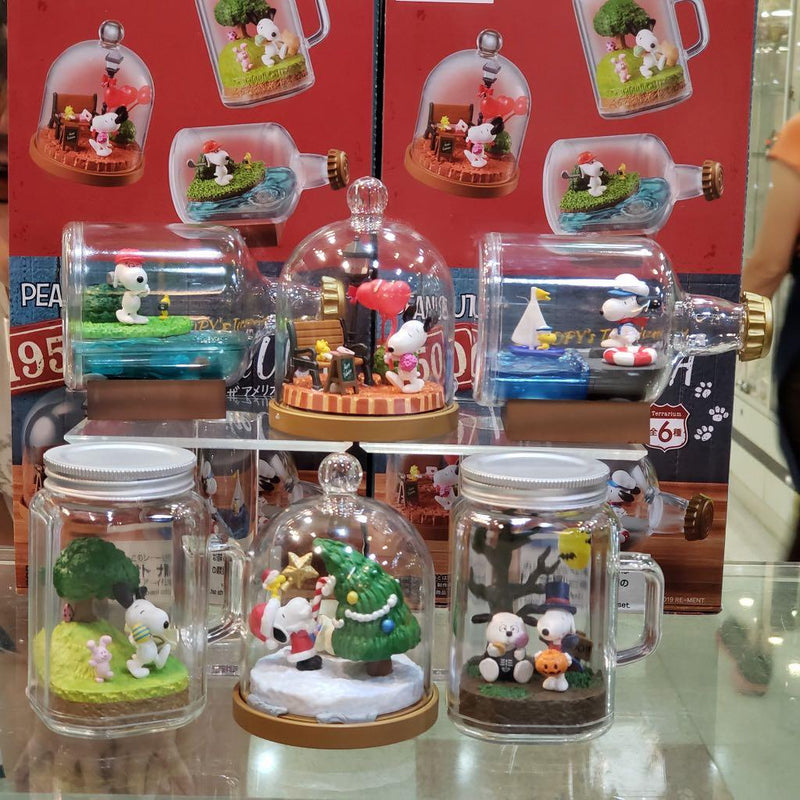 Re-ment Pokemon  Candy Toy Snoopy's Terrarium Lfe in the USA Collection (6 kinds in a set)