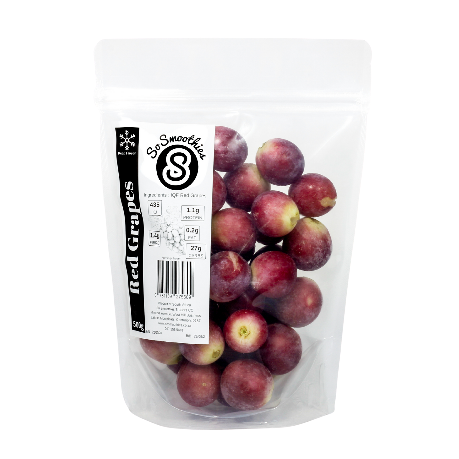 IQF Red Grapes