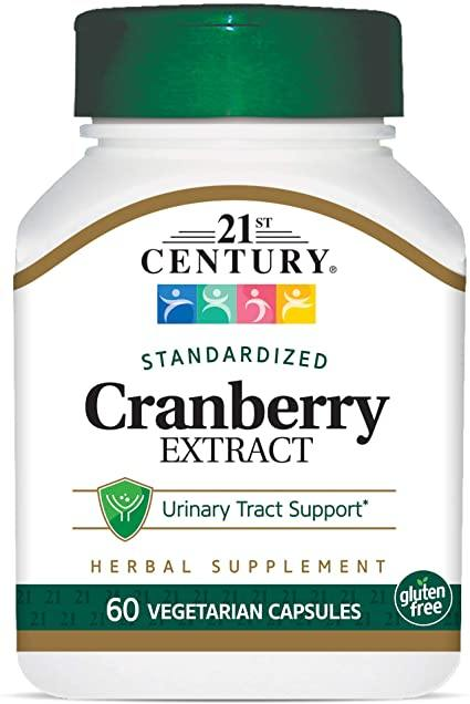 Cranberry Extract (Vaccinium oxycoccus) contains a total berry extract and its proanthocyanidins. Cranberries are used to support urinary tract health.