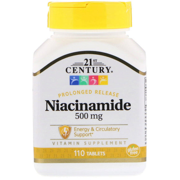 21st Century, Niacinamide 500mg 110tabs - Organic and Natural