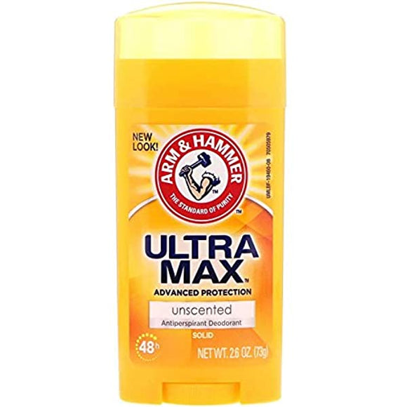 Arm and Hammer, Ultramax, Solid Antipersporant Deodorant, for Women, Unscented, 2.6 oz 73g