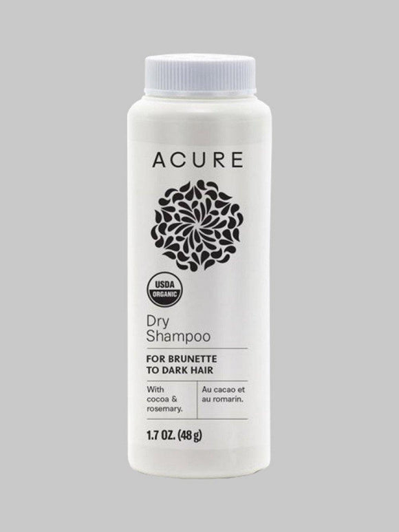 Acure, Dry Shampoo, for Brunette to Dark Hair, 1.7 oz 48g - Organic and Natural