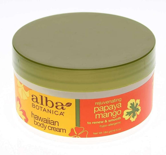 Alba Botanica, Body Cream, Papaya Mango, 6.5oz