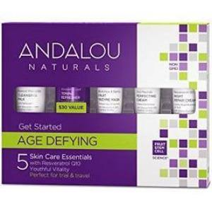 Andalou Naturals, Get Started, Age Defying, Skin Care Essential, 5 piece Kit - Organic and Natural