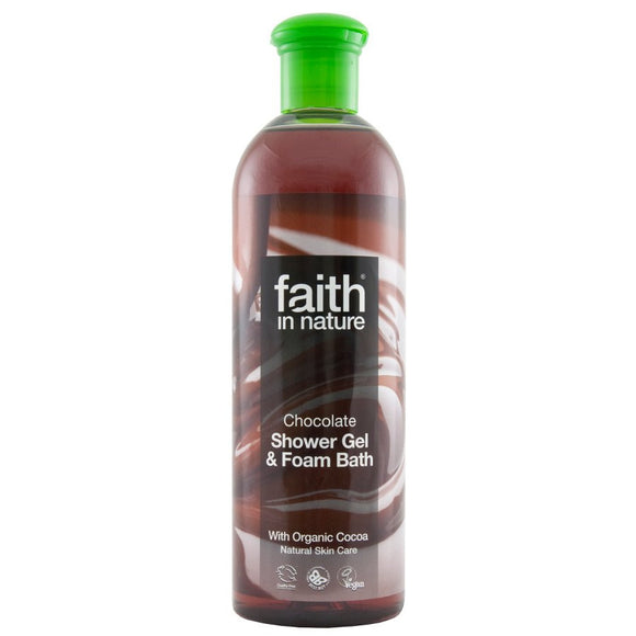 Faith in Nature, Shower gel & foam bath, Chocolate 250ml