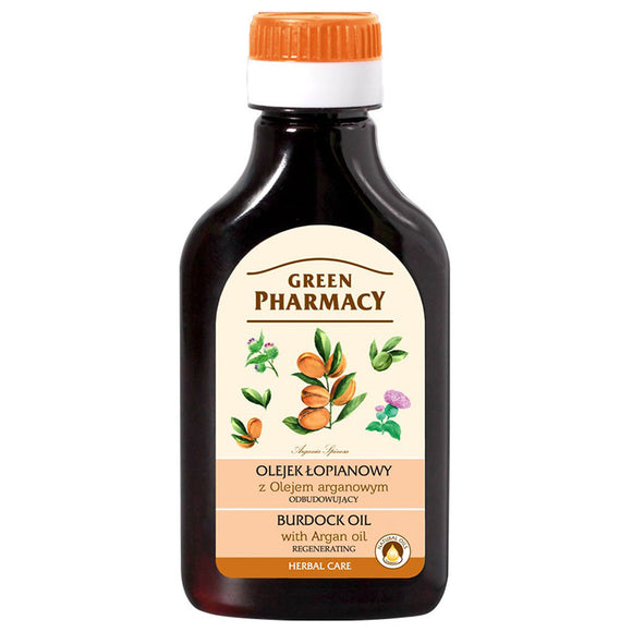 GREEN PHARMACY,burdock oil with ARGAN OIL regenerating