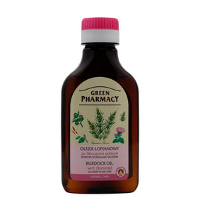 GREEN PHARMACY,burdock oil with HORSETAIL against hair loss