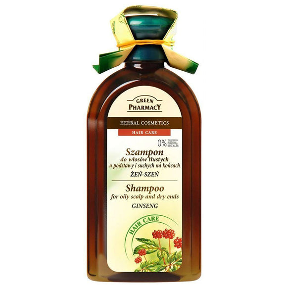 GREEN PHARMACY,shampoo for oily scalp and dry ends,GINSENG