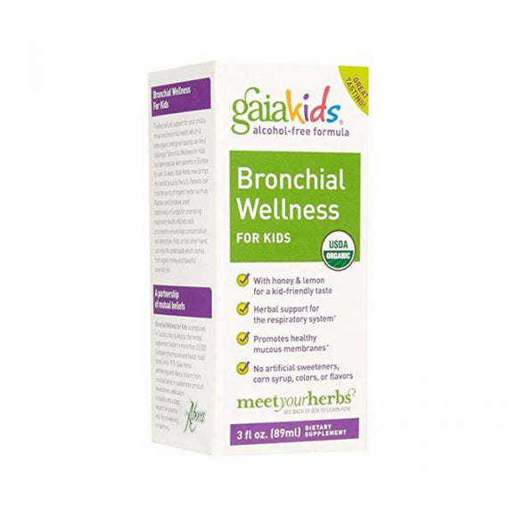 Gaia Herbs, Kids Brochial Wellness 3oz