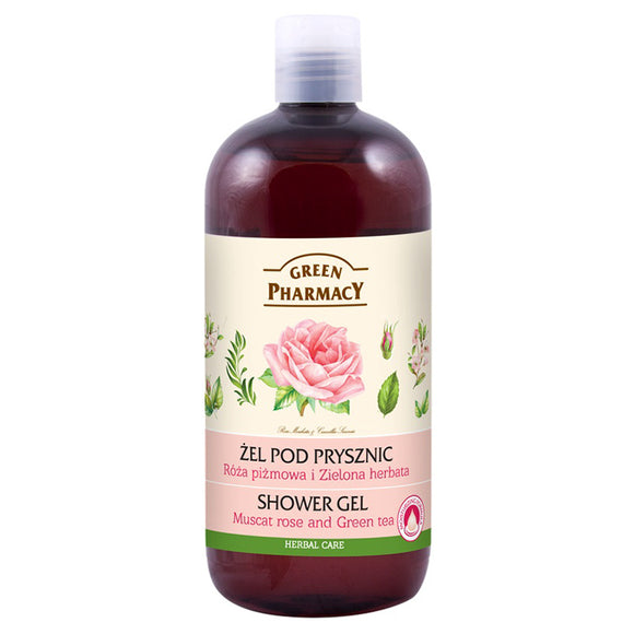 Green Pharmacy, SHOWER GEL Muscat Rose & Green Tea