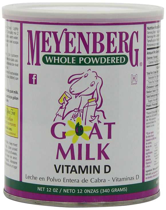 Meyenberg Goat Milk, Whole Powdered Goat Milk, Vitamin D, 12oz 340g