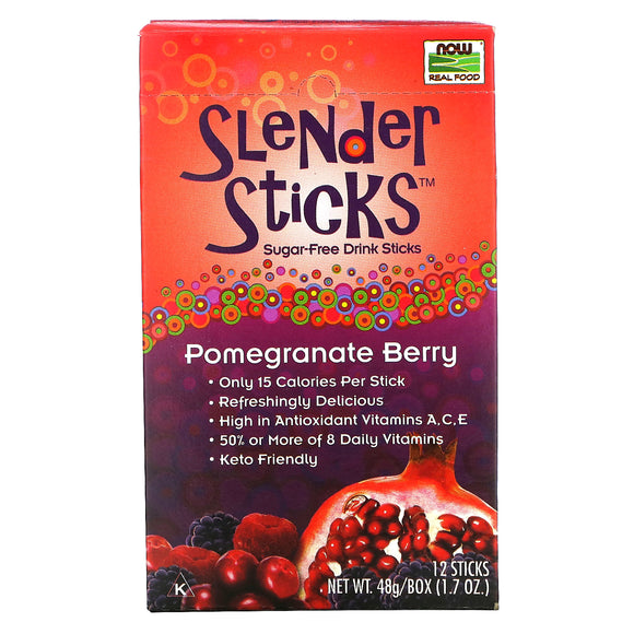 Now Foods, Real Food Slender Sticks, Pomegranate Berry 12sticks