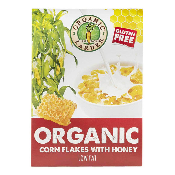 Organic Larder, CORN FLAKES WITH HONEY