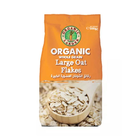 Organic Larder, ROLLED OATS LARGE FLAKES 500g.