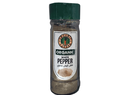 Organic Larder, organic white pepper ground 55g
