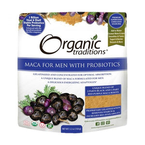 Organic Traditions, Maca for Men with Probiotics, 150g