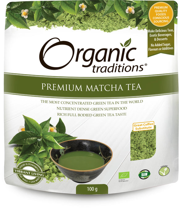 Organic Traditions, Premium Matcha Tea, 100g