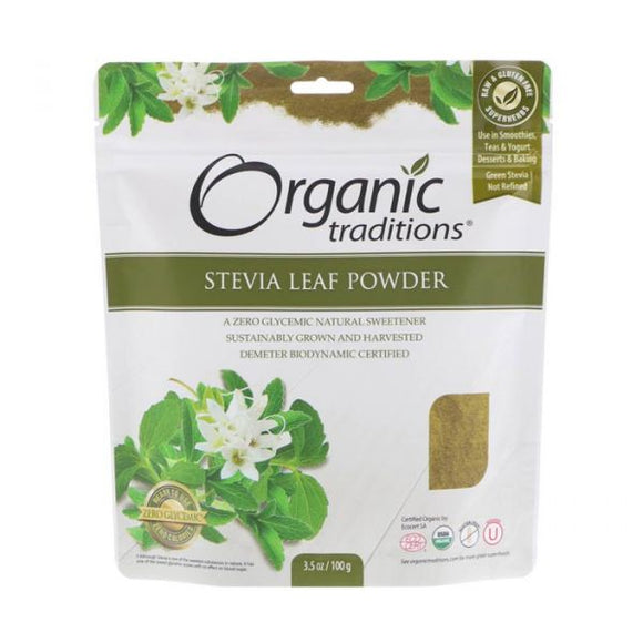 Organic Traditions, Stevia Leaf Powder, 100g