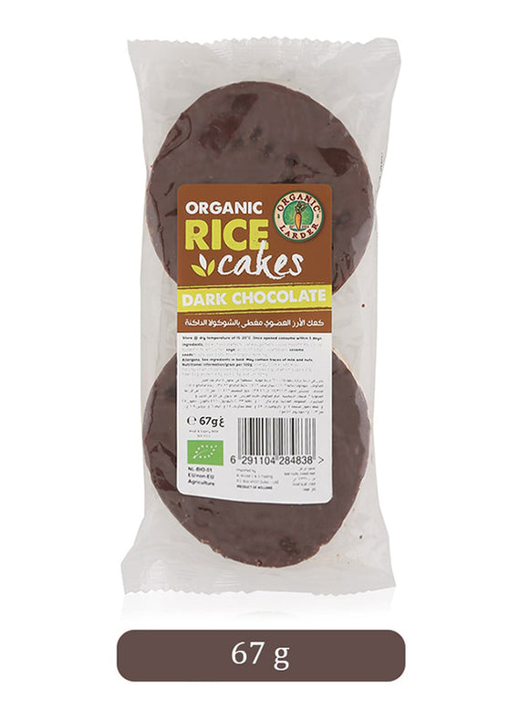 RICE CAKES WITH DARK CHOCOLATE 67g.