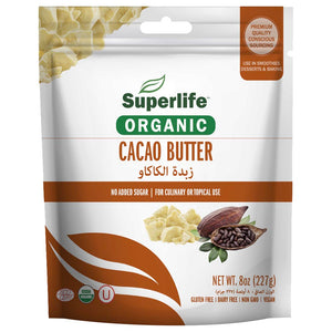 Superlife, Organic Cacao Butter 227g