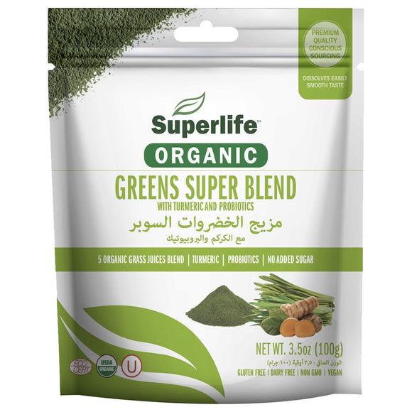 Superlife, Organic Green Super Blend 100g