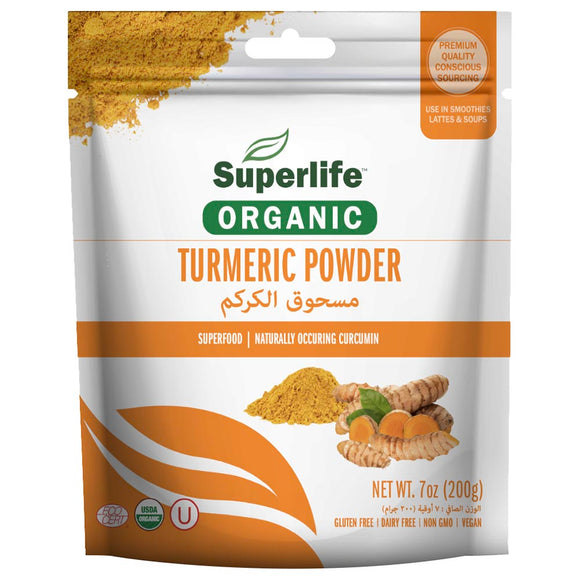 Superlife, Organic Turmeric Powder 200g