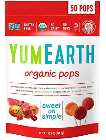 YUM EARTH ORGANIC POPS ASSORTED FLAVORS 50+POPS 12.3OZ (349G)
