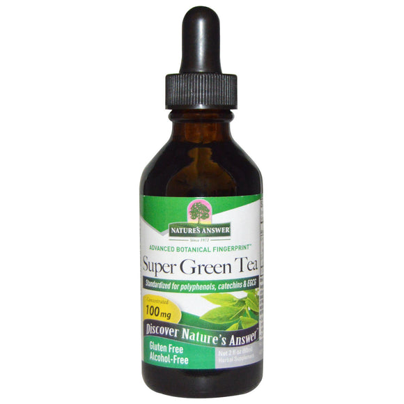 nature's answer, Super green tea, Alcohol Free 2fl oz (60ml)