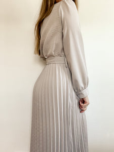 Ankle Length Pleated Dress
