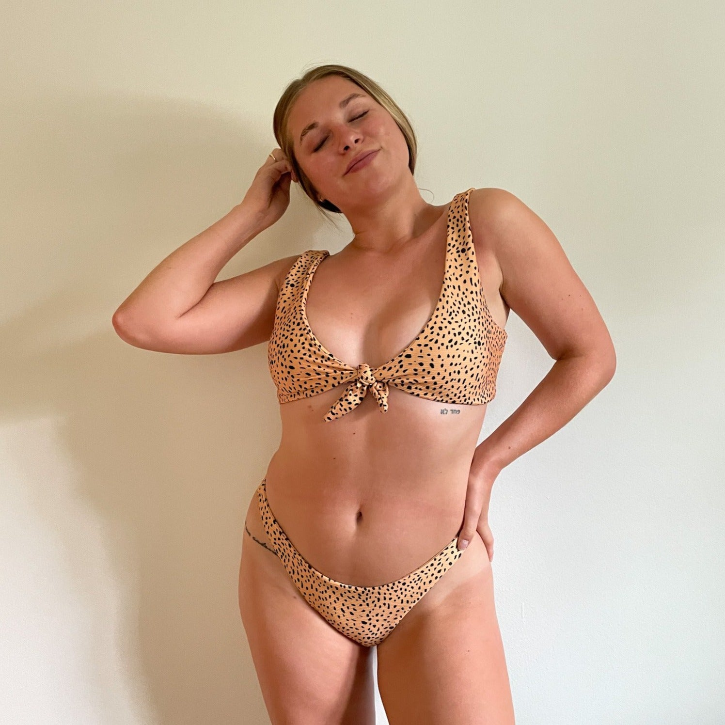 Spotty Leopard Tie Bikini Set