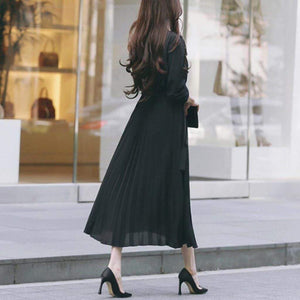 Westware Ankle Length Pleated Dress