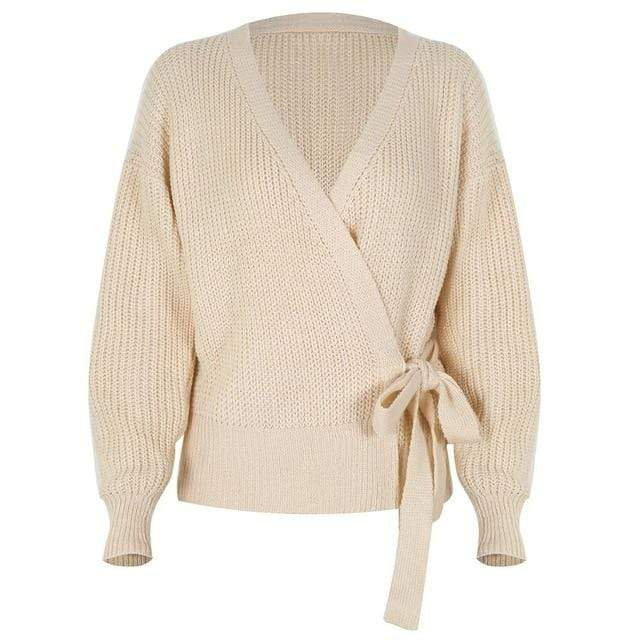 Westware apricot / M / United States Side Tie Sweater