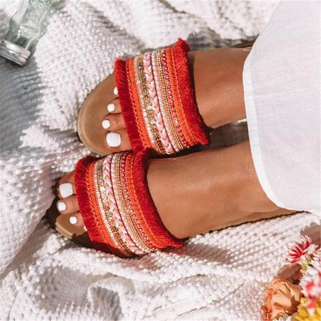 Westware Beaded Tiki Sandals