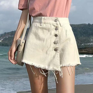 Westware Beige / S / United States Button Skort