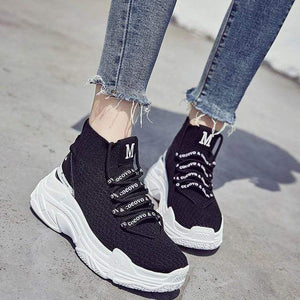 Westware Black / 8.5 / United States High Rise Knit Sneakers