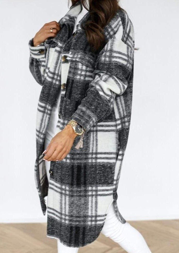 Westware Black / M / United States Plaid Duster