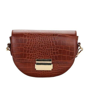 Westware Brown / United States Crocodile Rock Shoulder Bag