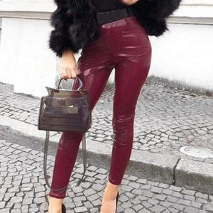 Westware Burgundy / S / United States Liquid Look Leggings